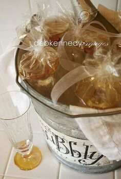 bubbly in a bucket, crafts, add a cute label to the bucket and you ve got a foolproof way to get the bubbly to the party with CHILLED glasses