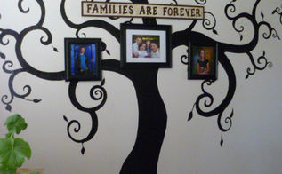 simply painted family tree, home decor, painting, wall decor