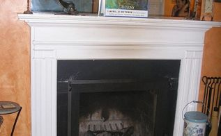 home renovation fireplace, fireplaces mantels, home decor, Before photo of fireplace mantel