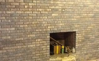 save yourself some money re doing that ugly fireplace, concrete masonry, fireplaces mantels, We had thought of painting it pa