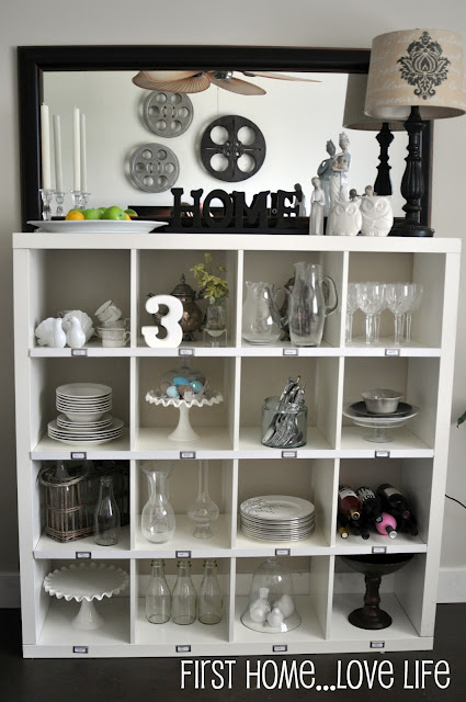 Pottery Barn Knock Off Using Ikea Expedit Storage Unit