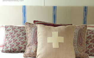 diy french linen style headboard, bedroom ideas, home decor, Instructions for making a faux French linen headboard