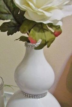 lamp made vase 4 of 5 white and silver d cor accents, crafts, repurposing upcycling