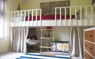 how to build a loft, bedroom ideas, home decor, painted furniture