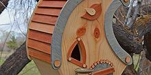 whimsical birdhouse, crafts, outdoor living, repurposing upcycling, woodworking projects