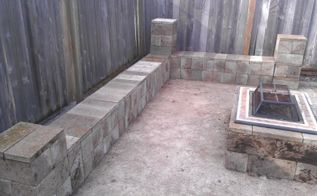 reuseing cinder blocks to make a fire pit, decks, gardening, outdoor living, We can fit at least 15 people comfortably