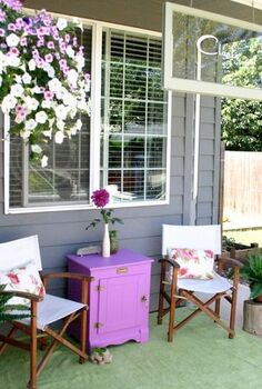 our always in progress home tour, home decor, Our little cottage style front porch where we sit and sip lemonade and read