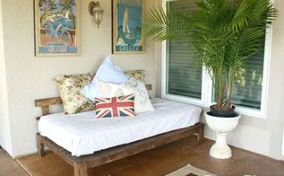 outdoor daybed, outdoor furniture, outdoor living, painted furniture, patio
