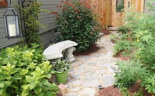 recycled granite block patio, outdoor living, patio, So much better Big difference from where it started