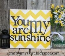 you are my sunshine sign, crafts, painting