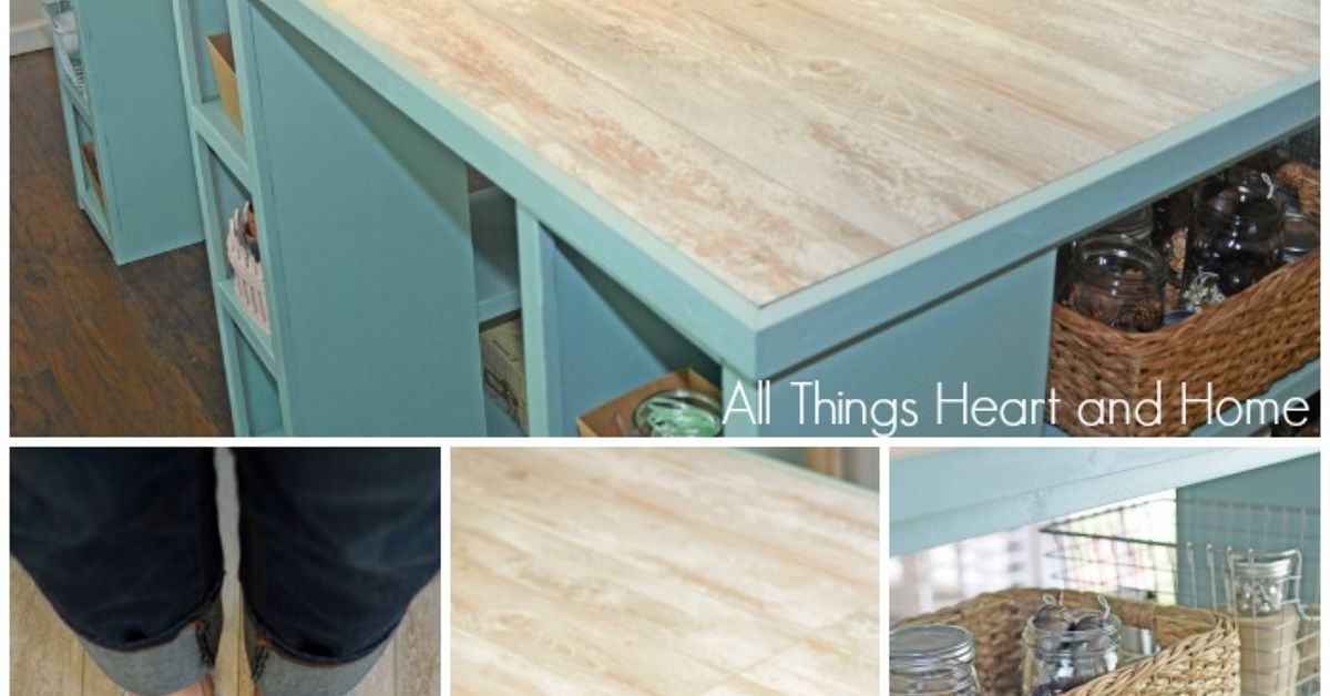 Diy Craft Room Table: DIY Craft Room Table! (Guess What The TOP Is Made Of