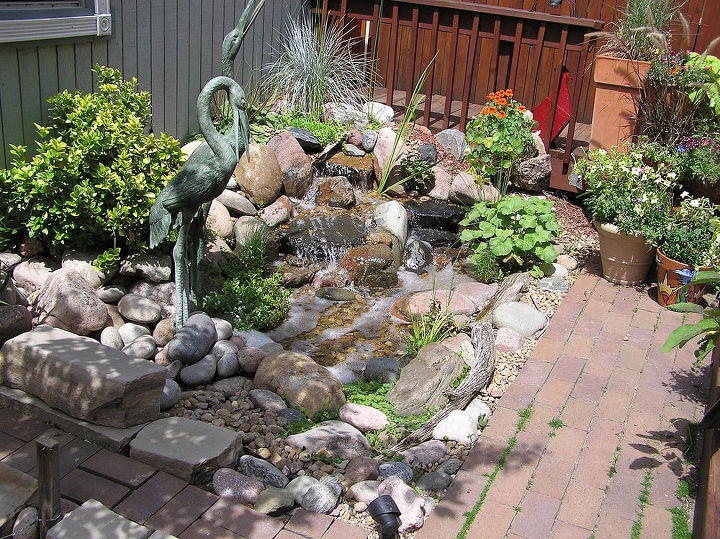 Pondless waterfalls work well when space is at a premium hometalk - Water features for small spaces plan ...