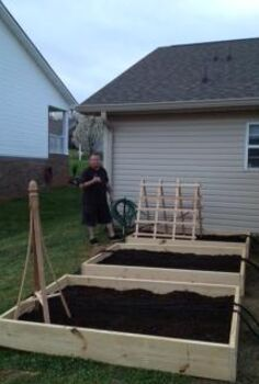 i finally built my raised garden beds, diy, gardening, raised garden beds, woodworking projects