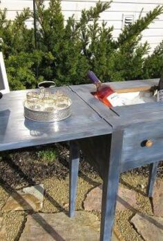 sewing machine cabinet turned into a mini bar or drink cart, painted furniture, repurposing upcycling