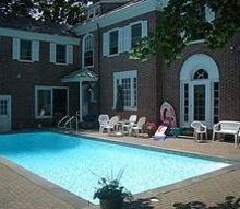 pool location too close for comfort with trd, hydrangea, landscape, outdoor living, pool designs, Before picture