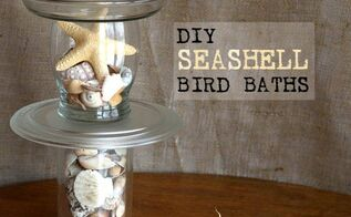 neat trick for making a seashell bird bath more, crafts, repurposing upcycling