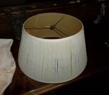 q lampshade, crafts, painting