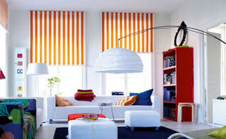 how to rockstar roller blinds using stencils, home decor, painting, window treatments, windows, Simple stripes on roller blinds can really transform a room