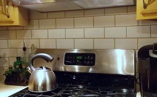 painted backsplash to look like subway tiles, home decor, kitchen backsplash, kitchen design