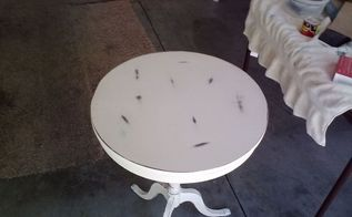 q i want to put some kind of french decopodge on this table but not sure how to go, painted furniture, shabby chic