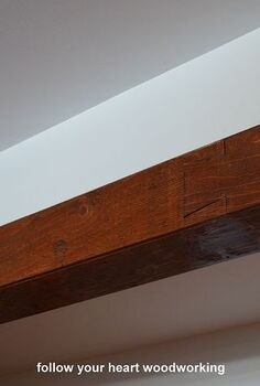 how to make a ceiling beam, diy, lighting, woodworking projects