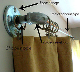how to make curtain rods from plumbing parts outdoor living porches reupholster - Outdoor Curtain Rods