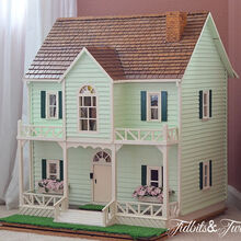 take a tour of my doll house, crafts, The dollhouse made for me by my grandpa