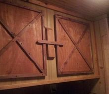 barn style doors in my laundry room that my husband made me, doors, home decor, woodworking projects
