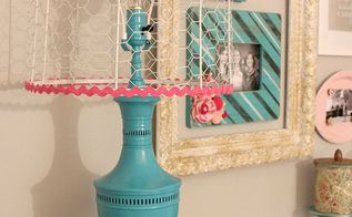 lamp makeover with spray paint and chicken wire, crafts, repurposing upcycling