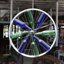 bicycle wheel wonderfulness, gardening, repurposing upcycling, First find an old bike wheel this one was found at a shop in Oakhurst CA