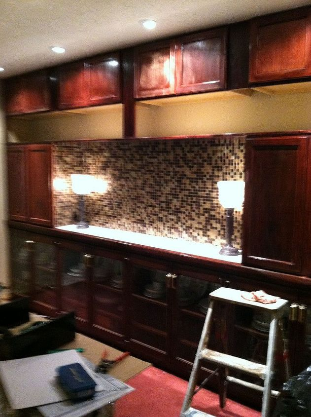 Dining Room Mirrors Down New Wall Unit Done And I Love It Ideas