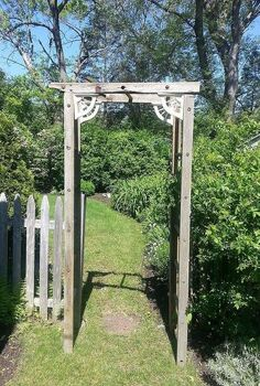 re purposed ladder becomes trellis, outdoor living, repurposing upcycling, This is the trellis Process follows