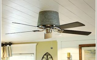 unique ceiling fan, home decor, hvac, painting, The bucket cost me 20 The fan was an inexpensive fan from a home improvement store