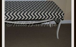 3 garage sale table frame goes bench, diy, painted furniture, repurposing upcycling, Finished Bench project