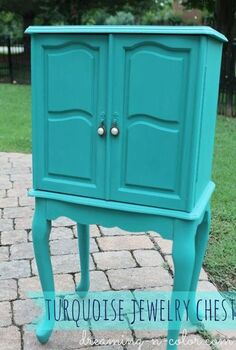a great idea for hardware, painted furniture, Love the updated look with paint I added new hardware to the existing metal Using jewelry