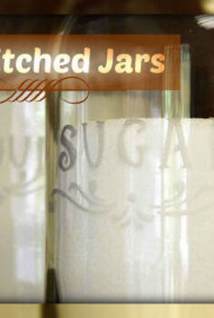 how to faux etch jars for pantry, crafts, mason jars, create an etched look with stencils and frost paint