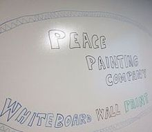 new ideas for media paint great for offices or around the home messaging, paint colors, painting, wall decor, Clear dry erase paint can go on top of any existing wall color The only noticeable difference is that it s glossy