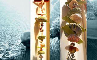 easy way to make a seashells sea urchins decorative hanger, crafts, repurposing upcycling