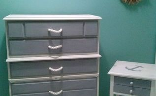 coastal chic dresser night stand makeover, painted furniture, So happy with the results I d love to keep this one What do you think