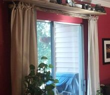 no sew curtain and ties, crafts, doors, reupholster, window treatments