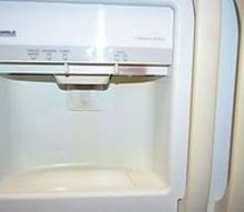 q getting the white back from freezer water ice cube dispenser area and refrigerator, appliances, cleaning tips, doors
