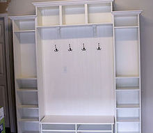 mudroom built ins from ikea bookcases for 300, laundry rooms, painted furniture, shelving ideas, storage ideas, The finished Built Ins