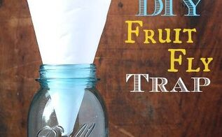 get rid of fruit flies diy fruit fly trap, pest control, DIY Fruit Fly Trap made with a jar piece of paper apple cider vinegar and liquid dish detergent