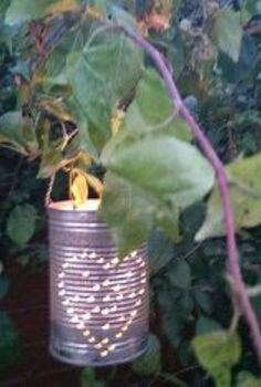 make something for nothing how to re purpose your old soup tins, crafts, outdoor living, Make these cute repurposed soup tin lanterns in 5 easy steps