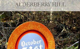 halloween decor diy halloween plate, crafts, halloween decorations, seasonal holiday decor