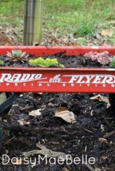 simple wagon succulent garden, container gardening, flowers, gardening, outdoor living, repurposing upcycling, succulents
