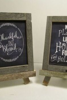 framing chalkboard printables with reclaimed fence, chalkboard paint, crafts, repurposing upcycling, Rustic Holiday Chalkboard Printables in rustic frames
