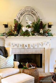 christmas mantel 2012, christmas decorations, seasonal holiday decor, JoY PeAce Mantel at reFresh reStyle
