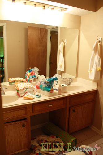 Mosaic Tile Framed Mirror Bathroom Ideas Home Decor Tiling Before