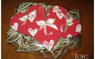 decoupage hearts for charity auction, crafts, decoupage